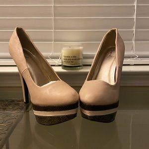 Pale Mauve Pink Heels